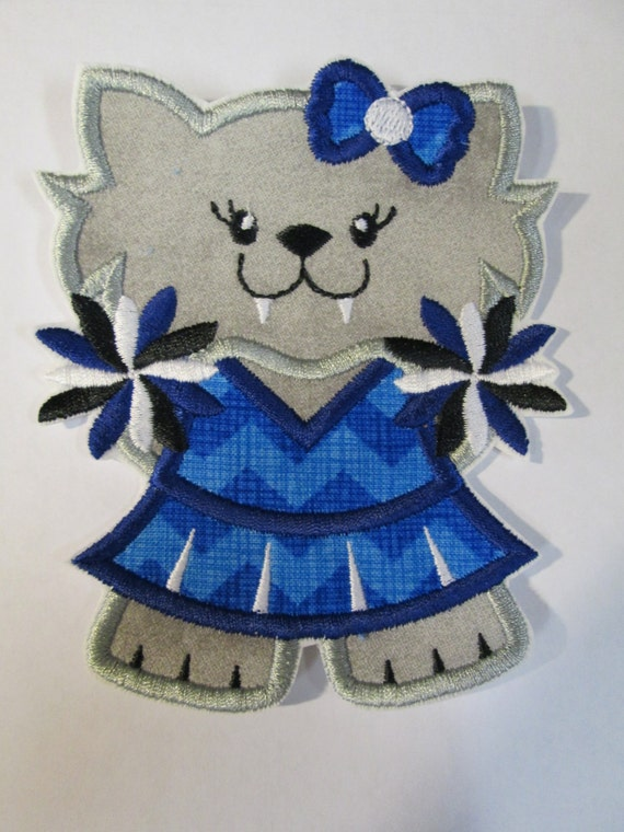 Wildcat Mascot - Football, College, High School Team, Iron On Applique Patch, Sew On, Custom Made, Embroidered, Patches