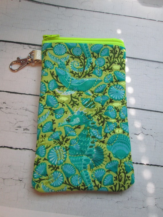 Seahorse Sunglasss Case, Glasses, Pouch, Seahorse, Ocean, Passport Case, Cell Phone Case, Sunglasses, Zippered Case, Zippered Pouch
