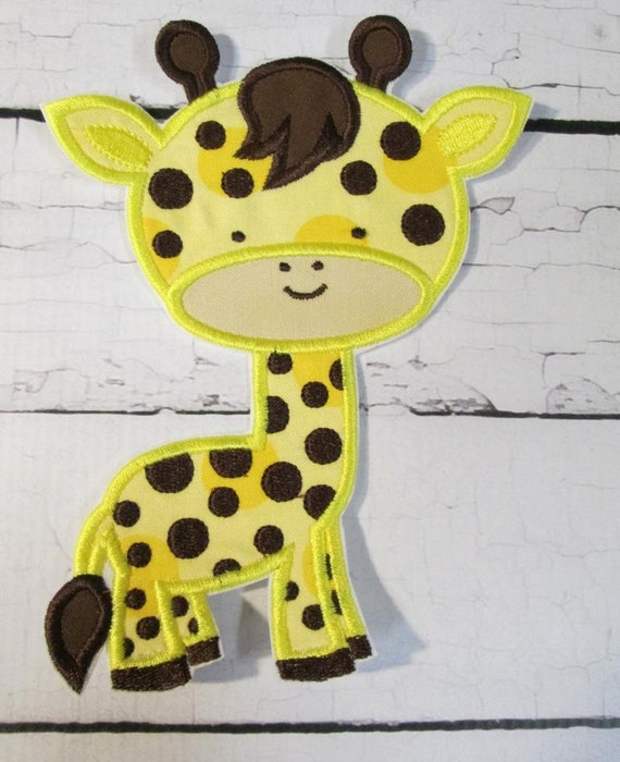 Giraffe, Iron On Applique Patch, Patch, Applique, Iron On, Sew On, BigBlackDogDesigns, Handmade, Custom Made