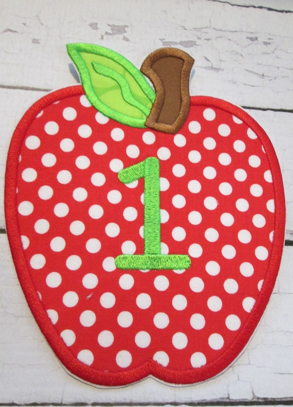 Apples Monogram - Add Numbers - Custom Made READY TO SHIP in 3-7 Business Days