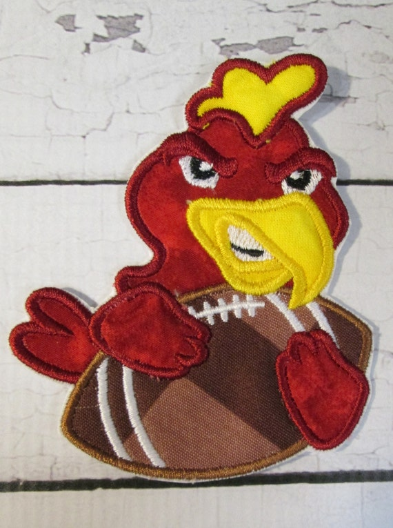 Football Team Mascot, Iron On Applique Patch, Sew On, Custom Made, Embroidered, Patches