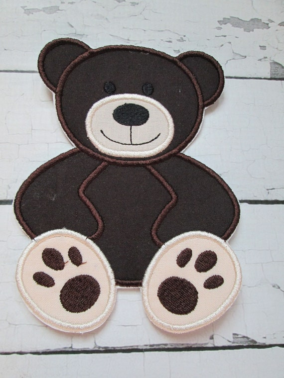 Teddy Bear, Iron On, Sew On, Glue On, Embroidered Applique, Handmade, Custom Made, BigBlackDogDesigns, Bear, Patch