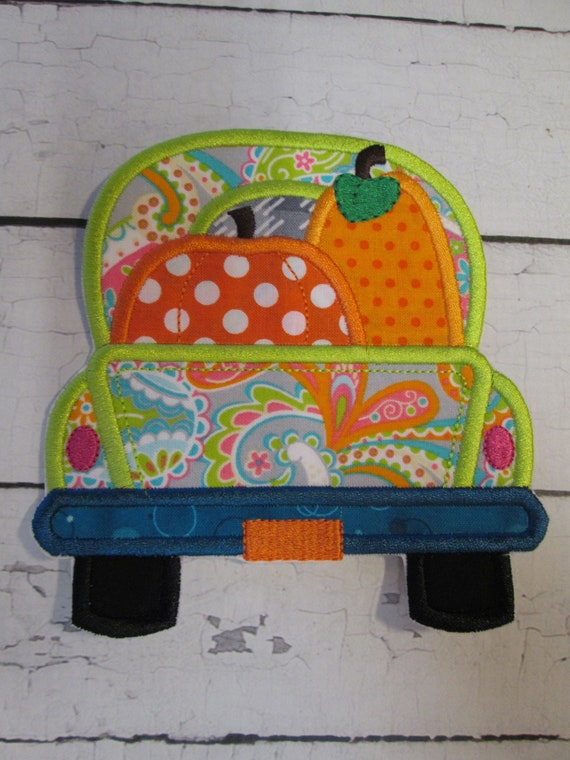 Trucks - Iron On, Sew On, Applique Patches, Easter Egg, Flower, Candy Corn , Truck, BigBlackDogDesigns, Customize, Handmade