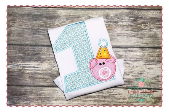 Birthday Party Pig Smash Numbers 1-9, Iron On, Handmade, Applique, Patch, BigBlackDogDesigns, Sew On, Birthday, Pig, Smash
