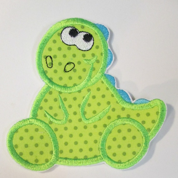 Dinosaur Iron On Applique For Children  READY TO SHIP in 3-7 Business Days