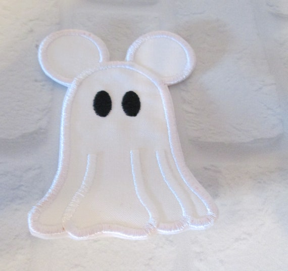 Halloween Ghost Iron On Applique Patch, Halloween, Ghost, Girl, Boy, Patches, Custom Made, Handmade, Sew On, Glue On