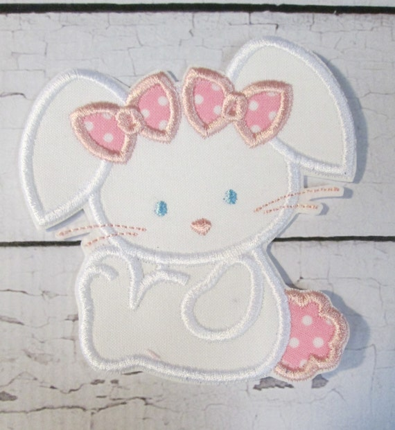 Easter Bunny Girl or Boy - Iron On or Sew On Embroidered Custom Made Applique