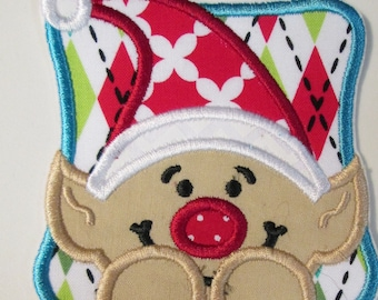Christmas Elf Iron On or Sew On Applique