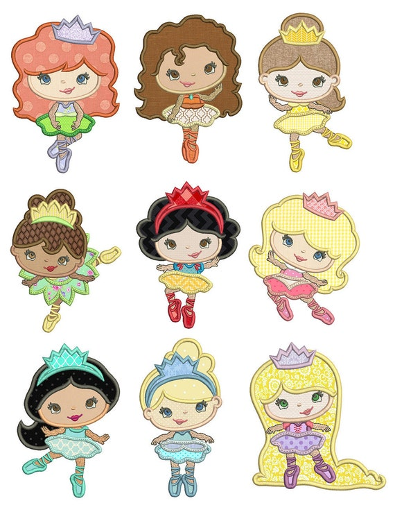 Ballerina Princess, Iron On Applique Patch, Sew On, Custom Made, Embroidered, Patches