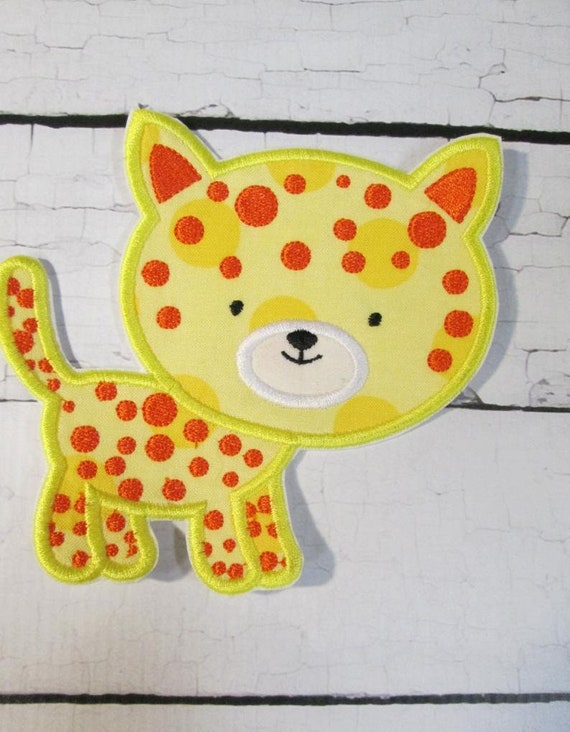 Leopard, Iron On Applique Patch, Patch, Applique, Iron On, Sew On, BigBlackDogDesigns, Handmade, Custom Made
