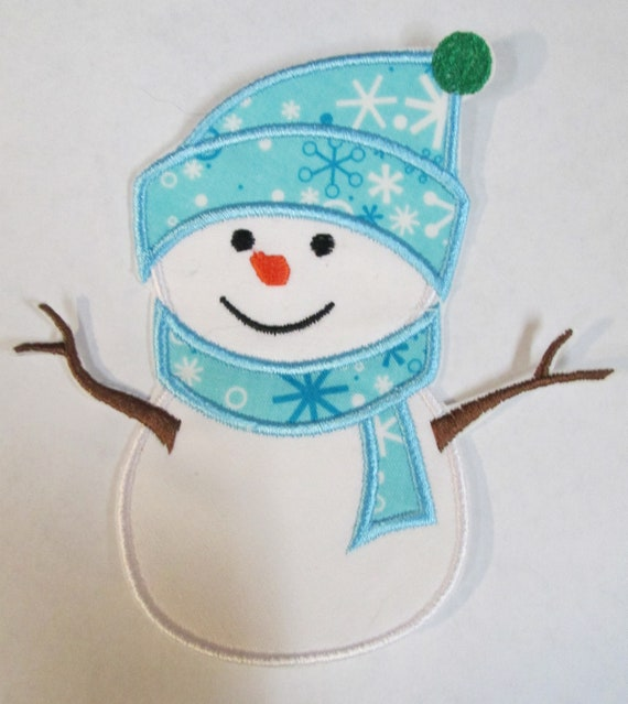 Snowman, Snow, Woman, Christmas, Holiday, Winter - Iron On Applique Patch, Sew On, Custom Made, Embroidered, Patches