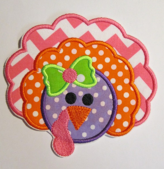 Turkey , Thanksgiving Turkey, Fall, Autumn, Iron On Applique Patch, Sew On, Custom Made, Embroidered, Patches