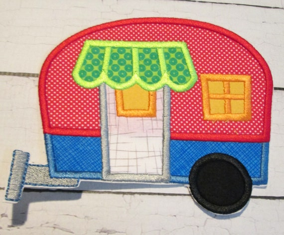 Let's Go Camping - Iron On Applique Patch, Sew On, Custom Made, Embroidered, Patches