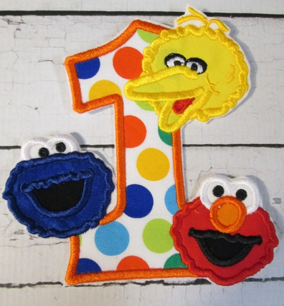 Steet Characters Birthday - Iron On or Sew On Embroidered Custom Made Applique