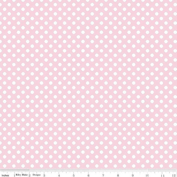 Riley Blake Small Dot Fabric by The Yard  - Fabric 100% Cotton Fabric, Baby Pink, Lavender, Purple, Teal, Green, Lime, Gray, And More