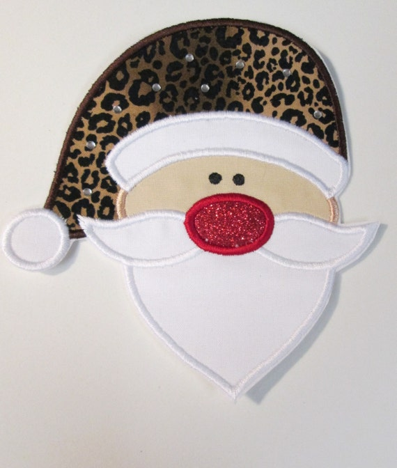 Mr. Santa , Iron On Applique Patch, Sew On, Custom Made, Embroidered, Patches
