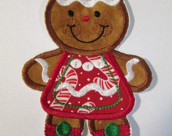 Gingerbread Boy and Girl for Christmas - Iron On Appliques