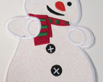 Cold Snowman Iron On Applique for Christmas
