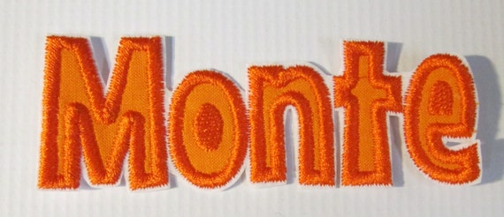 Monte Lettering Alphabet, Iron On Applique Patch, Sew On, Custom Made, Embroidered, Patches