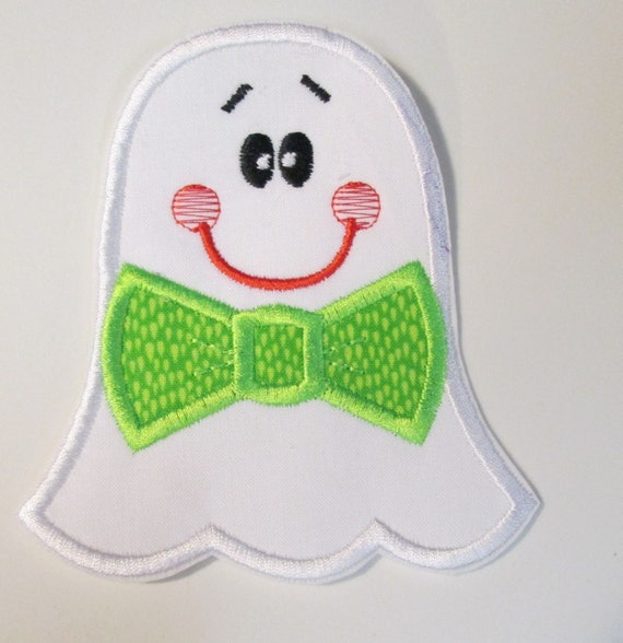 Halloween Ghost, Boy Ghost, Girl Ghost, Iron On Applique Patch, Custom Made, Handmade Applique, Patches, Embroidery