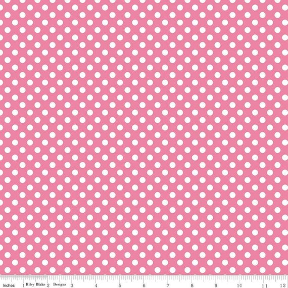 Riley Blake Small Dot Fabric by The Yard  - Fabric - 100% Cotton Fabric - Quilting - Sewing