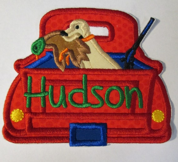 Hunting Trucks, Dog, Dogs, Gun, Fishing, Iron On Applique Patch, Sew On, Custom Made, Embroidered, Patches