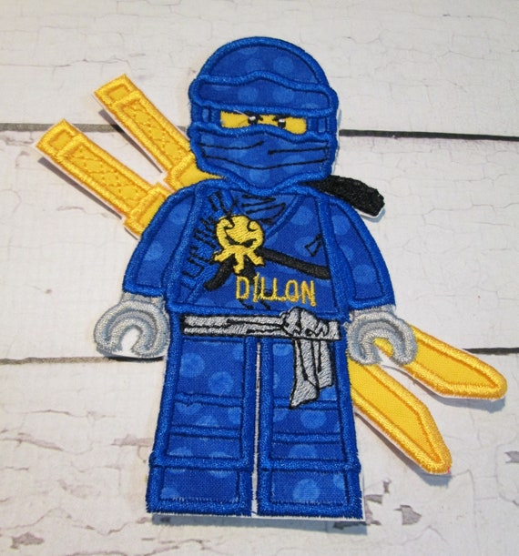 Ninja - Iron On Applique Patch, Sew On, Custom Made, Embroidered, Patches