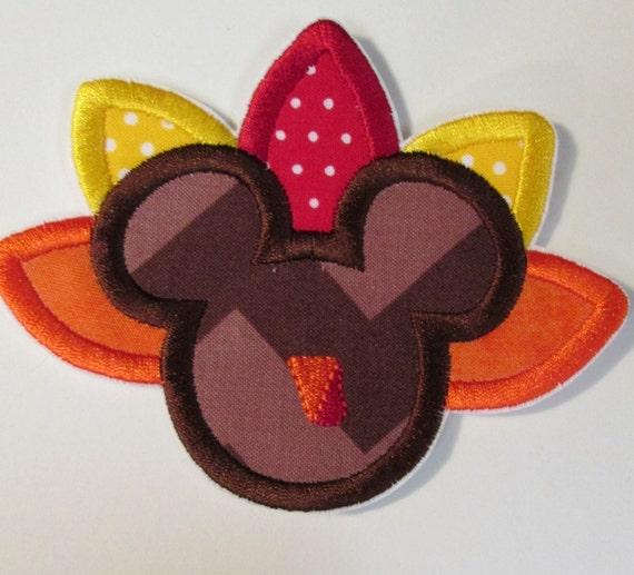 Iron On Applique - Mouse Turkey