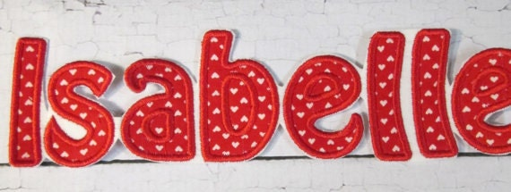 Hobo Lettering Alphabet, Iron On Applique Patch, Sew On, Custom Made, Embroidered, Patches