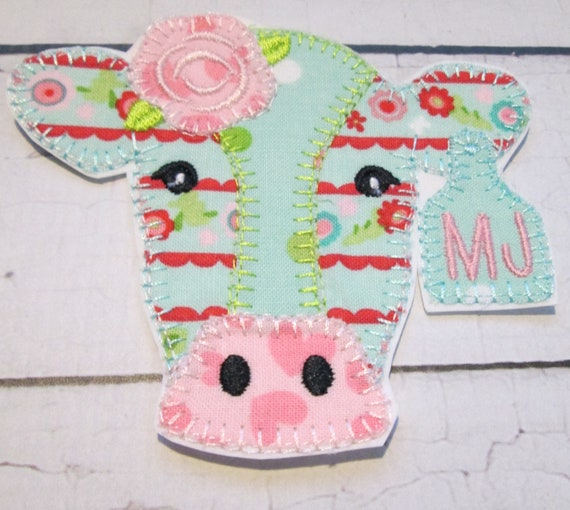Cow, Steer, Bull, Horse, Goat , Iron On Applique Patch, Sew On, Custom Made, Embroidered, Patches, BigBlackDogDesigns, Farm, Animals