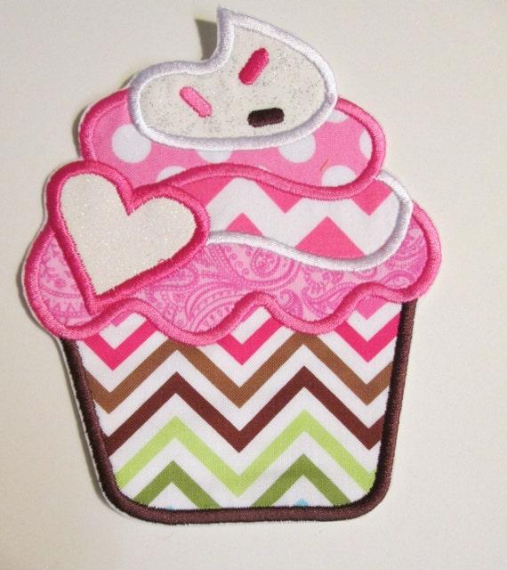 Iron On Applique - Cupcake 1001VC