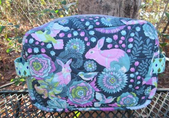 Taryn Travel Case, Handmade, Quilted, Bags and Purses, Accessory Case, Unique Gift