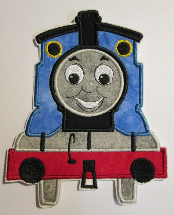 TomTom The Train Engine - Iron On or Sew On Embroidered Custom Made Applique