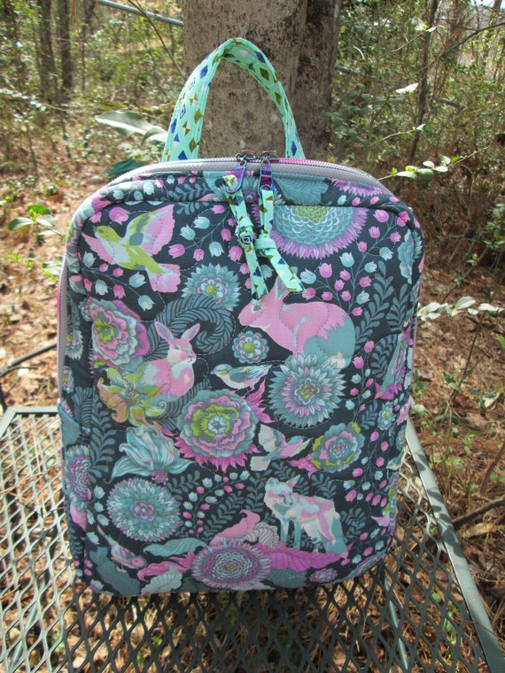 Backpack Purse, Handmade in USA, Purse, Backpack, Day Bag, Knapsack, Quilted, BigBlackDogDesgins, Zippered Day Pack. Adult, Teen