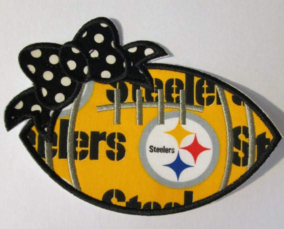 Team Footballs  - Iron On or Sew On Embroidered Applique Patch - Fabric Embroidered