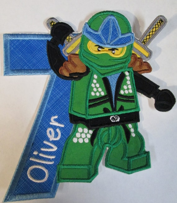 Ninja Letter and Numbers - Iron On Applique Patch, Sew On, Custom Made, Embroidered, Patches