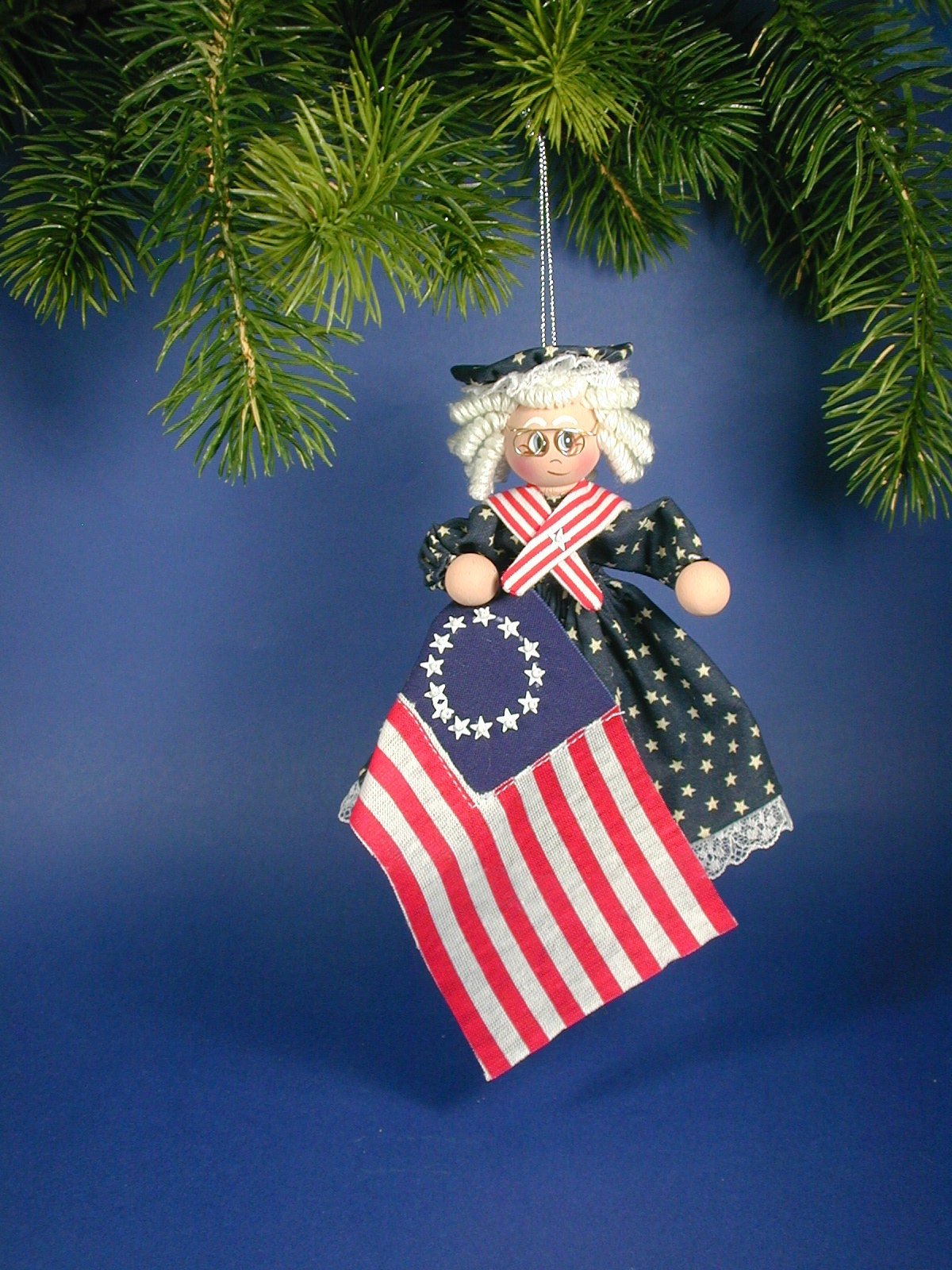 Betsy Ross Clothespin Ornament: Betsy Ross Flag Maker ClothespinOrnament; Americana Betsy Clothespin Ornament