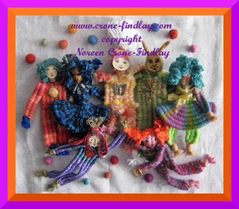 PDF Pattern for delightful dolls woven with all 6 sticks of image 0