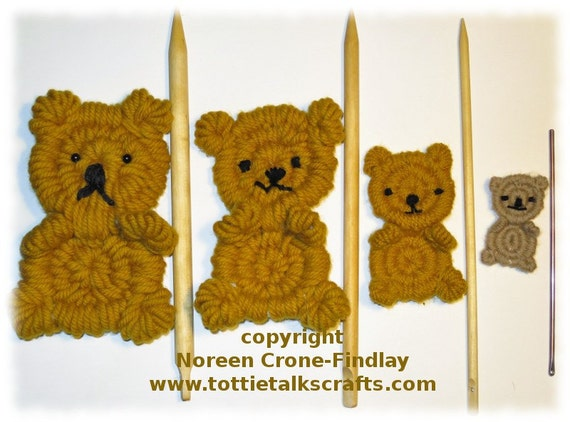 rolly polly flat teddy bear woven on weaving sticks pdf