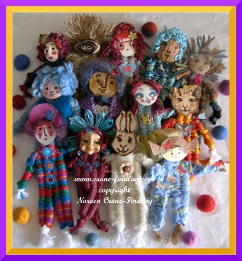 PDF Pattern for Small Dolls woven with 4 sticks on the  stick image 0