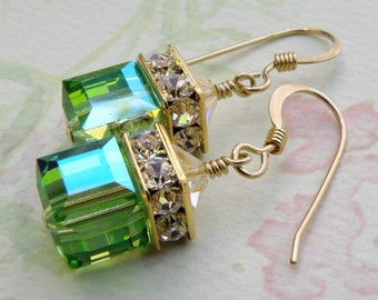 Crystal Cube Earrings