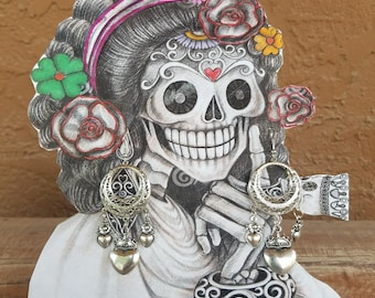 Corazon dangle earrings