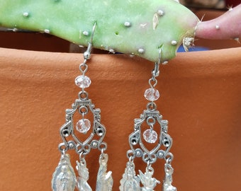 Milagro chandelier dangle earrings in silver