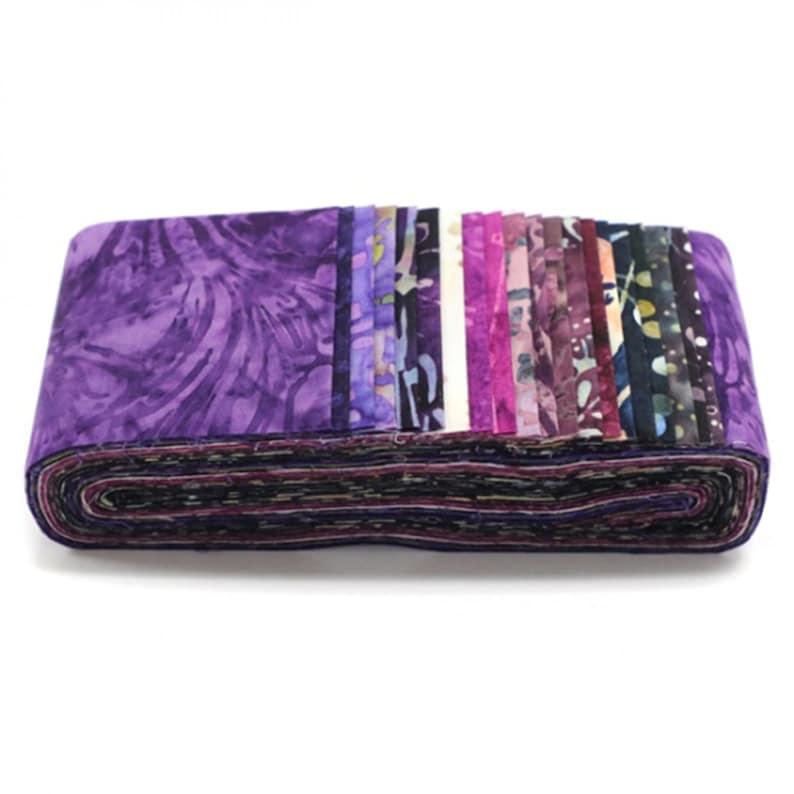 Hoffman Fabrics Napa Bali Pop Batik Fabric Strips 20-2.5 inch strips