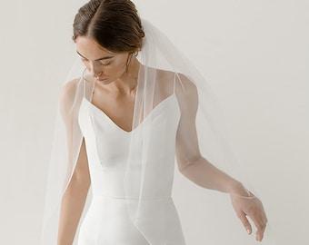 Fingertip Veil   Ivory Wedding Veil   Single Tier Veil   Simple Veil   Soft Tulle Veil   Single Layer Veil   Bridal Veil [Eloise Veil]