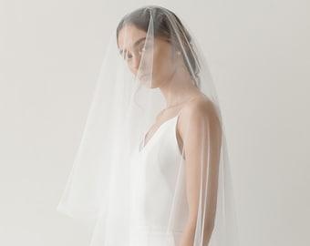 Drop Veil   Circle Veil   Blusher Veil   Floating Wedding Veil   Simple Bridal Veil   Soft Tulle Veil   Fingertip Veil [Eloise Drop Veil]