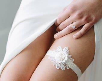 Wedding Garter | Lace Garter | Bridal Garter | Boho Garter | Lace Flower Garter | Boho Garter [Colette Garter]
