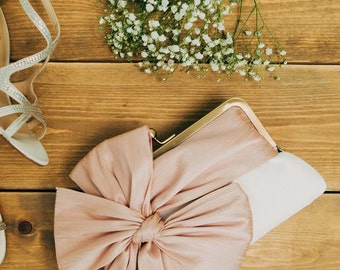 Bridesmaid Clutch   Floral Clutch   Pink Bridal Purse   Wedding Party Gift   Personalized Bag   Monogram Purse [Isabella Clutch]