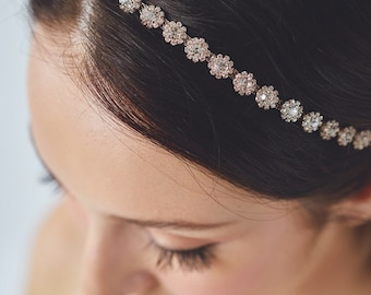 Rose Gold Headband   Crystal Headband   Rhinestone Hairband   Rose gold Headpiece   Bridal Hair Piece   Wedding Hair [Primrose Headband]