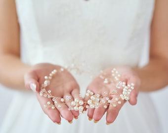 Bridal Hair Wreath | Wedding Hair Accessories | Gold Bridal Headpiece | Bridal Hair Vine [Daphne Hair Wreath]